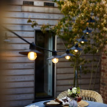 Outdoor lights to set your alfresco dining situation up for year-round entertaining