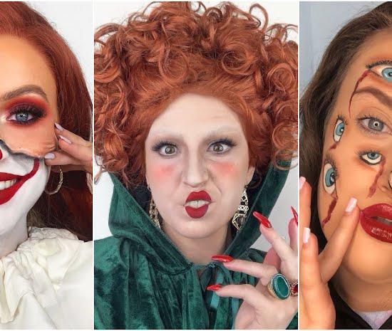Halloween make-up looks - Keilidh Cashell, Ciara McKeown, Ailsa Dickson