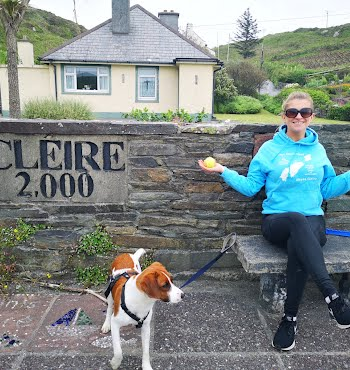 Leonie Corcoran on Cape Clear with Mutti