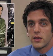 US 'Office' star BJ Novak's response to discovering he's an international catalog model gives us big Ryan the temp energy